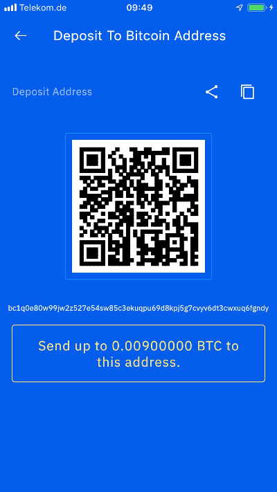 Top up Breez Wallet with Bitcoin