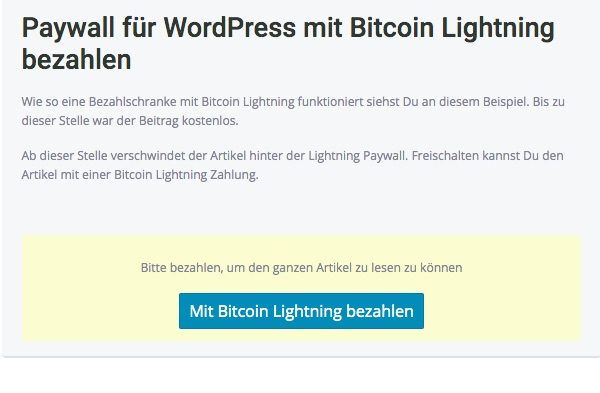 Paywall with Lightning