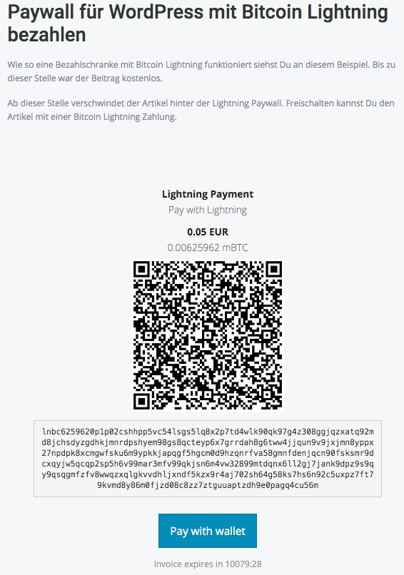 Paywall the paywall for wordpress with_lightning_payment