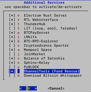 Additional Services Channel Tools Fund rescue